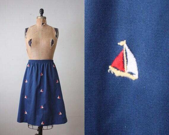 vintage 1970's sailboat skirt
