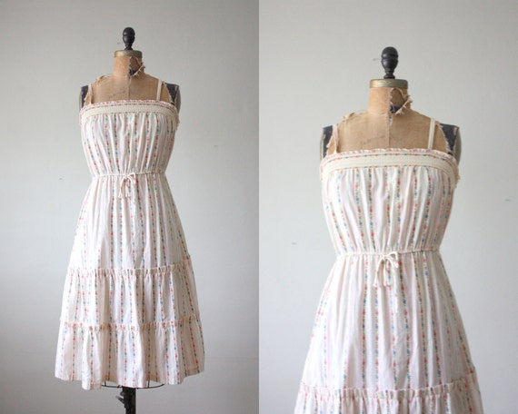 vintage 1970's garden party sundress