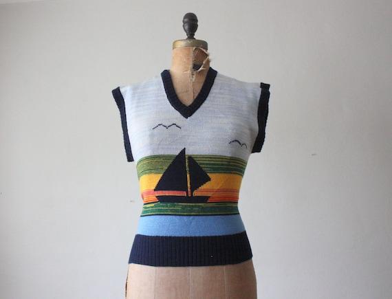 bird sweater - vintage 1970's bird knit sweater