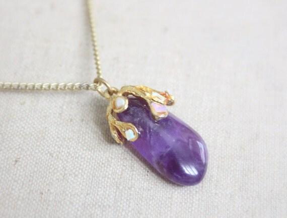 vintage 1970's amethyst necklace