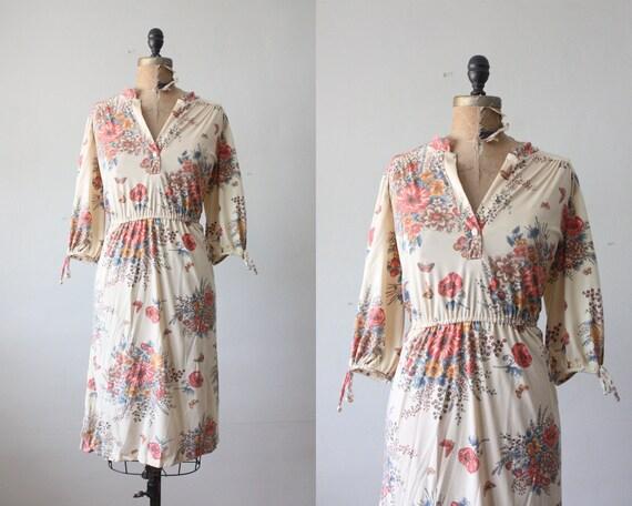 RESERVED. 1970's dress - woodland print day dress