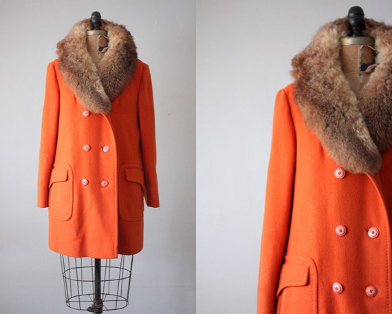 vintage 1960's pumpkin fox jacket