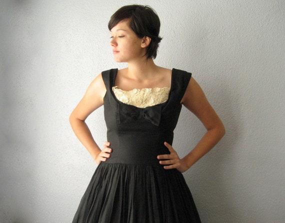 1950's black party dress