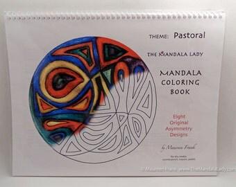 Pastoral Mandala Coloring Book