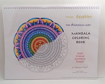 Egyptian Mandala Coloring Book