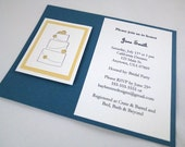 Navy/Yellow Bridal Cake Shower Invitation Sample