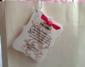 Welcome Note Sample for Wedding OOT Hotel Guest Bags
