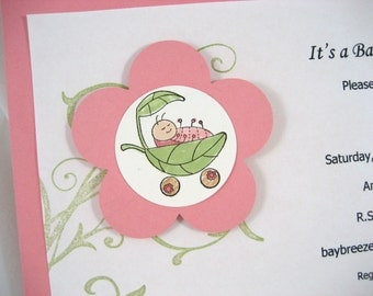 Cute As a Bug Girl Baby Shower Invite
