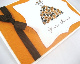 Fall Bridal Shower Invitation Sample