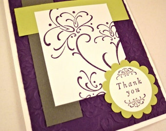 Wedding Inspired Blank Thank You Card Set of 8