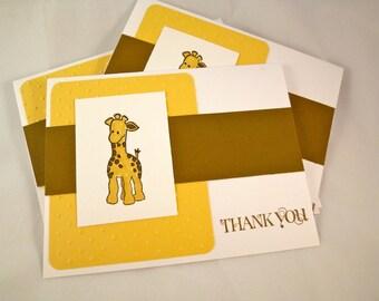 Baby Giraffe Blank Thank You Cards - Set of 10