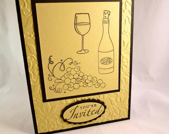 Wine Bottle Party Invitation Sample