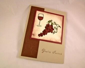 Rustic Wine Party Invitation