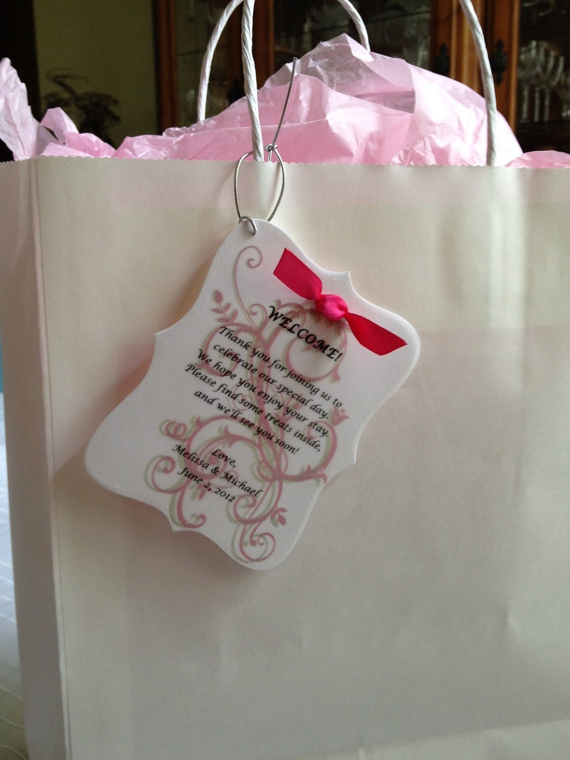 Wedding Gift Bag Notes : Welcome Note Sample for Wedding OOT Hotel Guest Bags