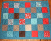 Red and Blue Baby Blanket