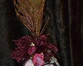 Peacock Feathered Headband, costume, photo prop, head dress, fancy