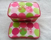 Large Diaper Nursery Wipe Case with Matching Travel Wipe, Design your own wipe case