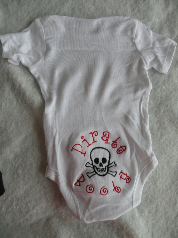 Personalized Baby Booty Onesies-Design your own onesie-PIRATE Booty-Baby Onesie
