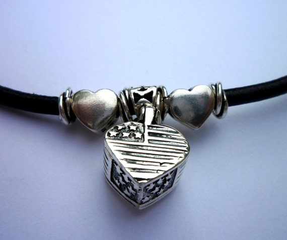 support our troops sterling silver prayer box bracelet wounded