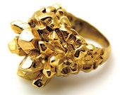 Pineapple Cluster Ring in Gold