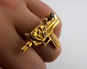 Loaded with Love Uzi ring