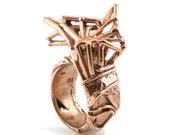Butterfly Skeleton Ring in Rose Gold