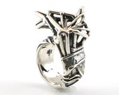 Butterfly Skeleton Ring in Silver