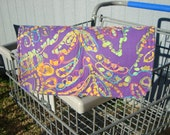 40% Off Coupon Organizer /Cash Budget Organizer Holder - Attaches to Your Shopping Cart -Purple  Embroiderd Batik