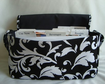 Medium Size Coupon Organizer /Budget Organizer Holder- Attaches to Your Shopping Cart -Choose Your Fabric - NEW FABRICS