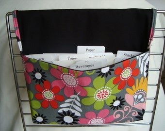 Coupon Organizer /Budget Organizer Holder - Attaches to Your Shopping Cart - BRIT DAISIES