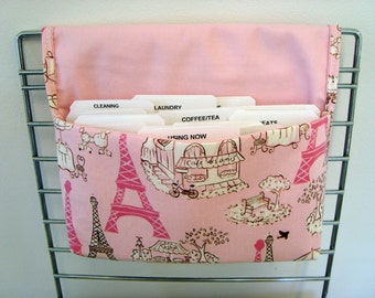 Coupon Organizer /Budget Organizer Holder-  Attaches to your shopping Cart - Eiffel Tower- Limited Available