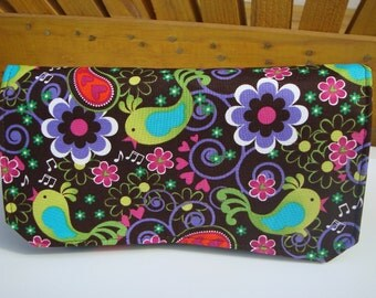 Fabric Coupon Organizer Budget Organizer Holder - Attaches to Your Shopping Cart - Song Birds