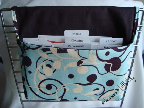 Coupon Organizer /Budget Organizer Holder- Attaches to Your Shopping Cart- Hands Free Shopping