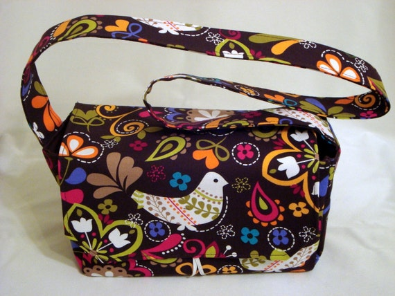 Super Large Size Fabric Coupon Organizer Holder Box- Attaches to your Shopping Cart BIRDS OF NORWAY