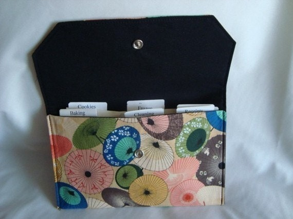 Coupon / Receipt / Cash Budget Organizer Clutch- Afternoon Umbrellas- Or Choose your Fabric