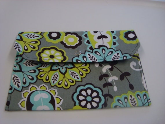 Coupon / Cash Budget Clutch Organizer - Lime Floral