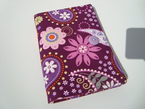 Honey Do List, Grocery List Taker/ Comes with- Note Pad and Pen- Purple Pink Paisley