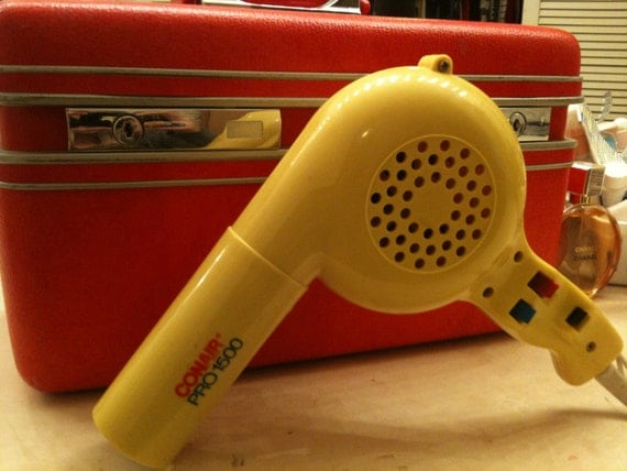 Vintage ConAir Pro1500 Yellow Blow Dryer