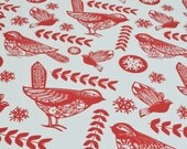 Christmas Robin Gift Wrap - FIVE SHEETS