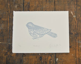 Bluebird Screenprint