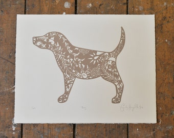 "Beige Limited Edition 'Dog"" screenprint"