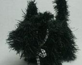 Black Scottie  Dog - Hand Knitted Amigurumi