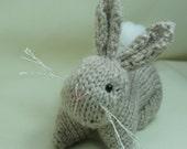 Bunny Rabbit - Hand knitted amigurumi softie
