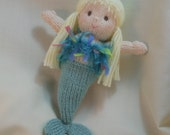 Mermaid -  knitted soft doll