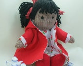 Tilly - handknitted soft doll