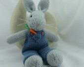 Bunny, rabbit,  knitted bunny, bunny softie
