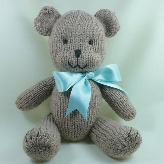 Custom Order for Ruth - Special Bear - knitted softie