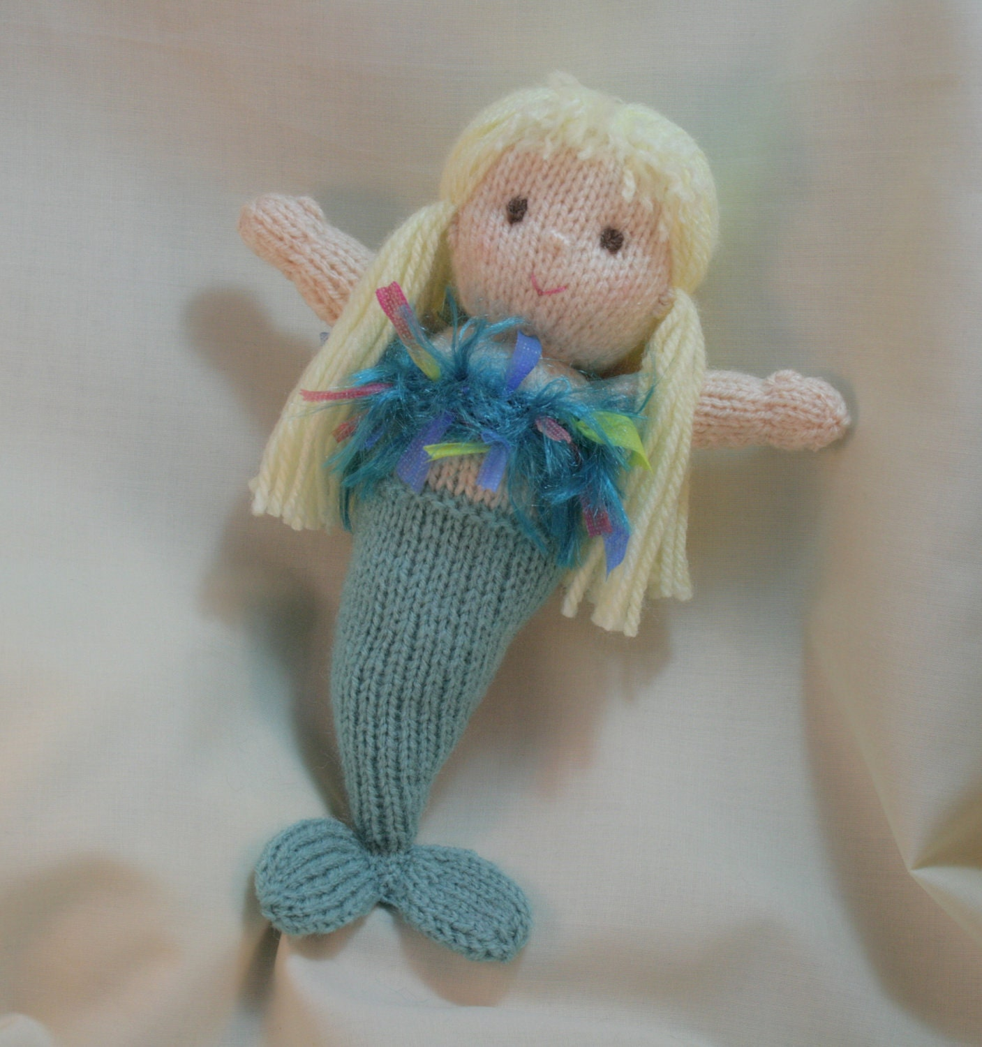 Mermaid knitted soft doll