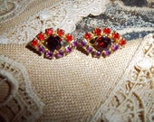 VINTAGE AUSTRIAN  Costume EARRINGS