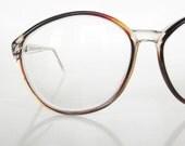 Vintage OVERSIZED Cat Eye Womens Glasses Eyeglasses Optical Frames 1960s Indie HIpster Classic Dark Brown